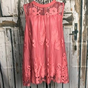 Rose colored flowing sleeveless top L